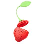 Kicode Reuseable Food safe SiliconeTea Infuser Strawberry Design Leaf Bag Holder Coffee Herb Punch Filter