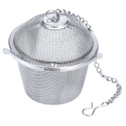 Stainless Steel Bucket Shape Tea Ball with a Chain White Gold 1 Pcs