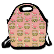 Monkey Watermelon Emoji Hot Fashion 2017 Newest Lunch Bag Box Travel Outdoor Picnic Lunchboxes Lunch Tote Lunch Pouch For Kids And Adults