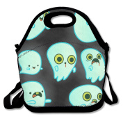 Cute Green Ghost Hot Fashion 2017 Newest Lunch Bag Box Travel Outdoor Picnic Lunchboxes Lunch Tote Lunch Pouch For Kids And Adults