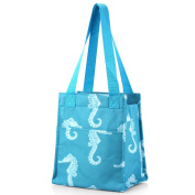 Zodaca Insulated Lunch Tote Bag, Seahorse