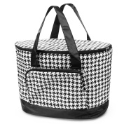Zodaca Large Pinic Camping Cooler Bag, Black Houndstooth