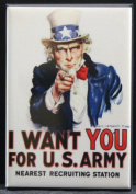 """U. S. Army """"I Want You"""" Refrigerator Magnet. Uncle Sam WWII"""