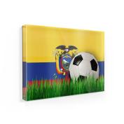 Fridge Magnet Soccer Team Flag Ecuador - NEONBLOND