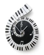 "My Music Gifts ""Piano"" Scroll Wall Clock"