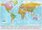 World Map with flags XXL Poster - 2017 - MAPS IN MINUTES®