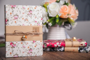 Journal Notebook Ruled Hardcover Writing Travel Diary Journals Classic Floral Fabric Cover for Gift Kids Women Girls Travellers, 7.4×13cm Back to School Supplies