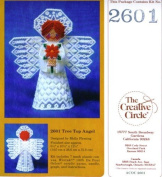The Creative Circle 2601 Tree Top Angel Plastic Canvas Craft Kit