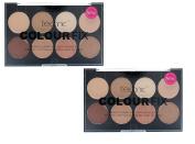 Pack Of 2 Technic Colour Fix Cream 8 Colour Foundation Contour Palette