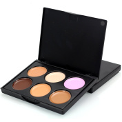 Concealer Contour Palette, TOFAR Waterproof 6 Colours Face Cream Concealer Coverage Camouflage Makeup Palette Cosmetics Make Up for Professional and Daily Use ¨C FM02