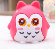 Miss.AJ Beautiful Coin Bank/Money Box/Piggy Bank, Shape Of Owl, Eyes Will Move Best Gift, Keepsake, or Savings Piggy Bank for Kids, Blue