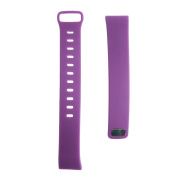 SCASTOE Silicone Watch Band Fitness Tracker Heart Rate Monitor Wristband Strap for V07 Bluetooth Smart Watch-Purple