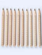 MEEDEN Wooden Ruler Multifunction Ballpoint pen set Handmade for Measurement Writing etc-10 Pcs