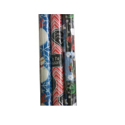 Premium Christmas Holiday Gift Wrapping Paper Rolls - Pack of 3 Rolls