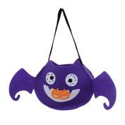 Elevin(TM) 2017 Children Halloween Smile Pumpkin Bag Kids Candy Trick or Treat Bag Handbag Halloween Holiday