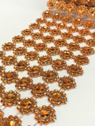 Ben Collection 10cm X 10 Yards (9.1m) Flower Diamond Mesh Rhinestone Ribbon Wrap for Wedding, Party, and Events Decoration