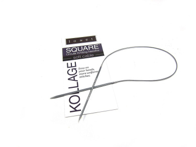 Kollage Square Circular 24-inch (61cm) Knitting Needle Soft Cable; Size US 1 (2.25mm)