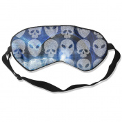 Sleeping Eye Mask Alien Skull Lightning Natural Silk Eye Mask Cover With Adjustable Strap