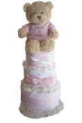 """""""It's a Girl"""" Nappy Cake for Baby Showers"""