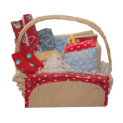 Baby Gift Idea Star Burst Jubilee Gift Basket - Red