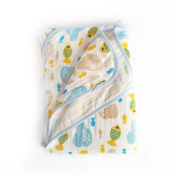 Baby 2-Layer Muslin Swaddle Blanket, 100cm x 150cm 100% Cotton Soft Unisex for Boys or Girls Nursing Receiving Swaddle Wrap Burp Cloth Stroller Cover Bath Towel