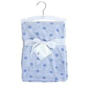 Baby Boy Blue 2 Tone Dots Blanket 80cm X 100cm Reversible