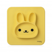 Yellow Silicone Baby Placemat with Suction 1 Divided Kids Plates Dinner Mat for Toddlers, Babies, Kids and Infants BPA Free with Strong Sticky Table Suction Dishwasher and Microwave Safe