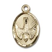 14kt Yellow Gold Holy Spirit Medal 1.3cm x 1cm