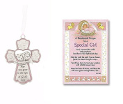 Special Girl Baptism Card and Crib Cross
