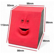 URToys Red Automatic Sensor Cute Face Bank Coin Eating Saving Money Bank Piggy Banks Christmas Kids Toys Birthday Novetly Gift