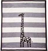 Arus Baby Turkish Cotton Blend Blanket Grey Giraffe 80cm x 100cm