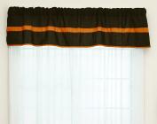Baby Doll Bedding Solid Stripe Window Valance, Brown/Orange