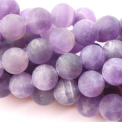 Natural Colour Unpolished Matte Amethyst Round Gemstone Jewellery Making Loose Beads