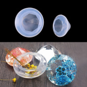 Buytra Diamond Silicone Resin Casting Moulds for Epoxy Resin, Jewellery Making Earring Pendant DIY Crafts, 2 Pack