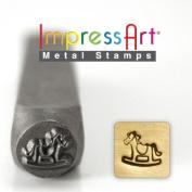 ImpressArt- 6mm, Rocking Horse Design Stamp