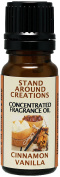 Concentrated Fragrance Oil - Cinnamon Vanilla - The scent of spicy cinnamon w/ sweet vanilla. Infused w/essential oils.