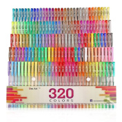 Aen Art Gel Pens 160 Coloured Gel Pen Set with 160 Refills Giving 320 Brilliant Gel Colours Perfect for Adult Colouring Books Drawing Painting Writing Marker