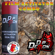 Combo Kit Late Season Camo Hydrographic Water Transfer Film Activator Combo Kit Hydro Dipping Dip Demon