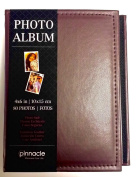 Compact Brown Imitation Leather Photo Album Holds 80 Individual 10cm X 15cm Pictures