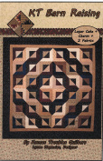 KT Barn Raising Quilt Pattern, Layer Cake 25cm Squares & Charm Pack 13cm Squares Friendly