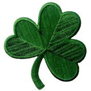 Irish Clover Dark Green Embroidered Emblem Lucky Shamrock Iron On Sew On Ireland Patch