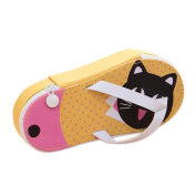 Da.Wa Pen Case Flip-flops Shape Pen Bag Lovely Pencil Case with Large Capacity for Students Cartoon Pattern
