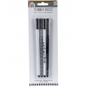 Create 365 Happy Planner Ink Pens with Black Ink Black & White Designs