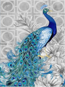 TianMai Hot New DIY 5D Diamond Painting Kit Crystals Diamond Embroidery Rhinestone Painting Pasted Paint By Number Kits Stitch Craft Kit Home Decor Wall Sticker - New Blue Peacock, 30x40cm