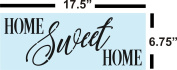 Home Sweet Home Stencil for Painting Wood Signs - Reusable