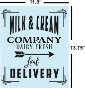 Farmhouse Milk and Cream Stencil for Painting Wood Signs - Reusable