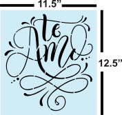 Te Amo I Love You in Spanish Stencil for Painting Wood Signs - Reusable