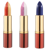 Ikos Duo Lipstick, Orange Up To Tender Rose, Pink Mother of Pearl Wild Rose Thinking Aubergine Set Of 3