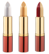 Set of 3 Ikos Lipsticks Thinking Pearl Pink Apricot Duo Bordeaux