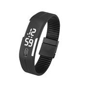 Digital Wrist Watch, Toamen Mens Womens Rubber LED Watch Date Sports Bracelet Digital Wrist Watch